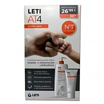 Leti at-4 pack  gel de baÑo (750 ml) + crema corporal (200 ml)