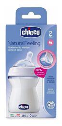 Chicco biberÓn natural feeling, 250 ml, 2m+