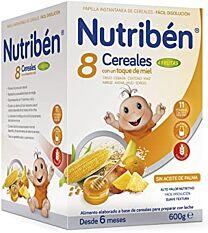 Nutriben 8 cerales con miel , 4 frutas (600 gr)