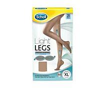 Dr. scholl light legs medias de compresiÓn ligera 20den color carne talla xl - (1ud)