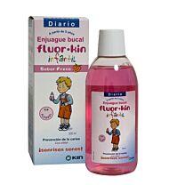 Fluor kin infantil enjuague bucal - (fresa 500 ml)