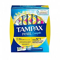 Tampax compak pearl regular algodÓn - (18 unidades)