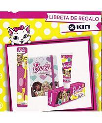 Pack barbie, cepillo dental y pasta dentÍfrica + libreta de regalo