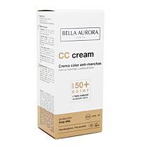 Bella aurora cc protect spf 50+, piel sensible, 30 ml