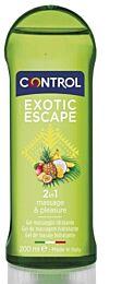 Control gel de masaje 2 en 1, exotic escape, 200 ml