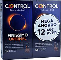 Control finissimo original, pack 12 + 12  preservativos