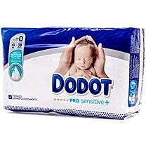 Dodot pañal infantil talla 0 (+ de 3 kg) 38 unidades