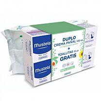Mustela duplo crema de paÑal con aguacate y girasol (100 ml+ 100 ml) + toallitas gratis 70 unidades
