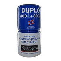 Neutrogena duplo hidrataciÓn cara y cuerpo, 300 ml +300 ml