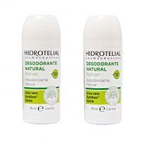 Hidrotelial desodorante natural roll-on, 2 x 75 ml