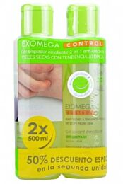 A-derma exomega control gel lavante emoliente, (2 x 500 ml)