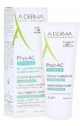 A-derma phys-ac hydra, crema hidratante compensadora, 40 ml