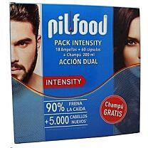 Pilfood intensity dual action 18 ampollas + 60 capsulas + champÚ 200ml