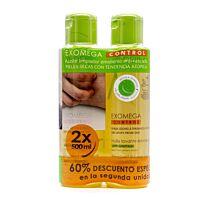 A-derma  exomega aceite limpiador emoliente, (2 x 500 ml)
