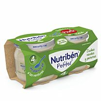 Nutriben Pack 2 x 180 gr, judías verdes y patatas