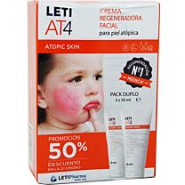 Leti AT4 crema facial regeneradora, 2 x 50 ml