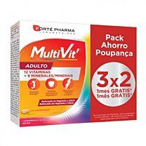 Forte pharma multivit adulto, pack 3x2 (84 comprimidos)