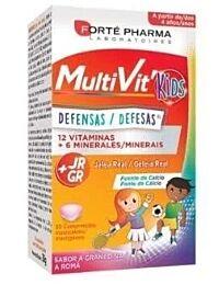 Forte pharma, multivit kids defensas, 30 comprimidos masticables