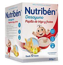Nutriben desayuno papilla de trigo y frutas, (600 gr) (desde 12 meses)