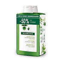 Klorane champÚ cabellos grasos a la ortiga,duplo (2 x 400 ml)