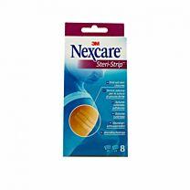 Nexcare steri-strip, suturas cutáneas, 5 (3mm x 75 mm) + 3 (6mm x75mm)