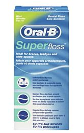 Oral-b superfloss, hilo dental encerado (50 usos)