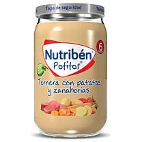 Nutribén potitos, ternera con patatas y zanahorias, 235 g