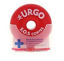 Urgo SOS cortes, banda stop sangrado, 3 m x 2,5 cm