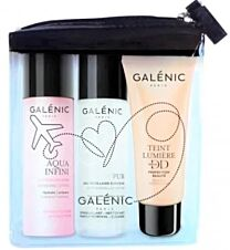 Galenic neceser viaje, agua micelar (40 ml) + aqua infini lociÓn hidratante ( 40ml)+ aqua infini water gel (40 ml)